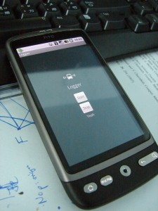 BusDroid running on HTC Desire