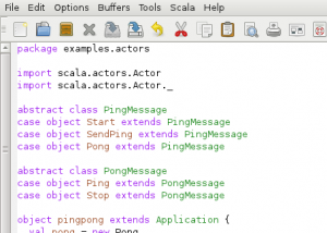 Scala screenshot