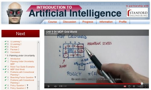 Artificial Intelligence class screenshot