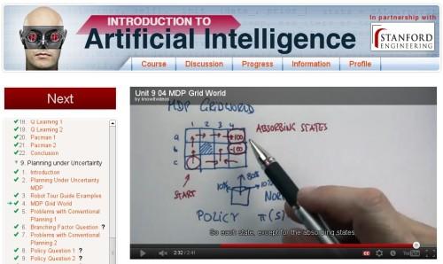 Artificial Intelligence class screenshot