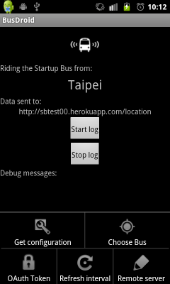 BusDroid interface
