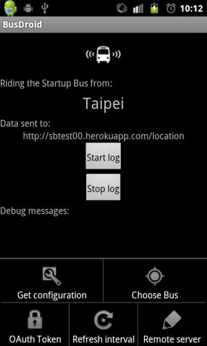 BusDroid interface