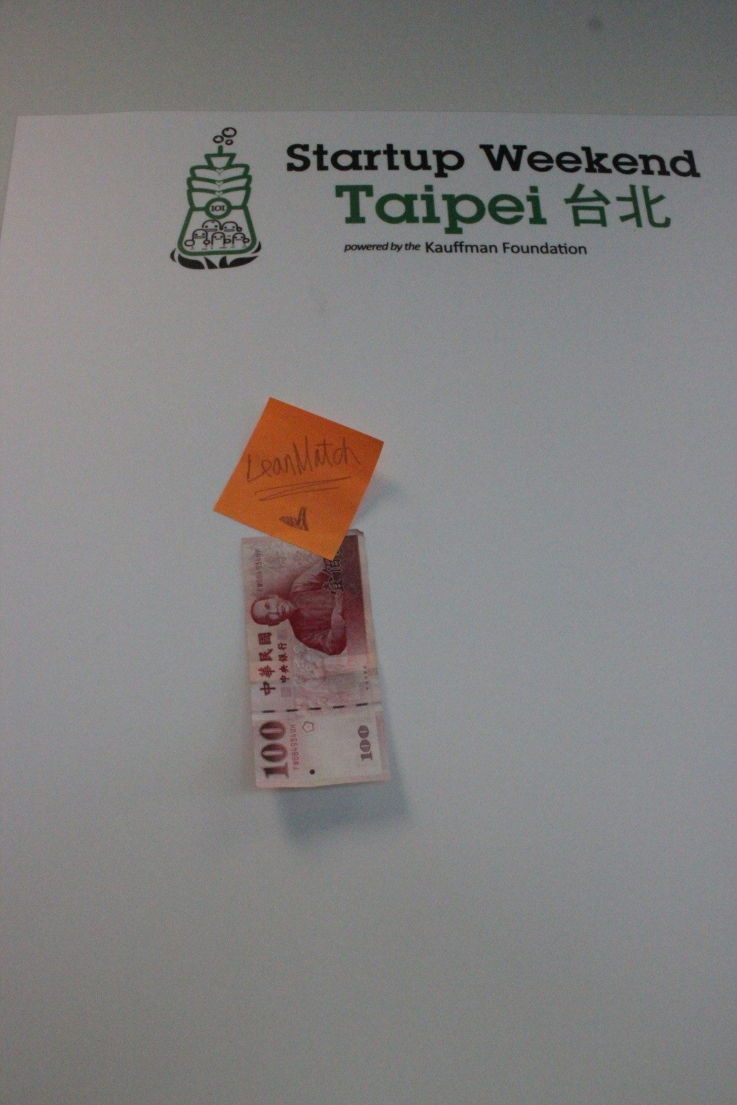 Another team posting 100TWD revenue at StartupWeekend Taipei
