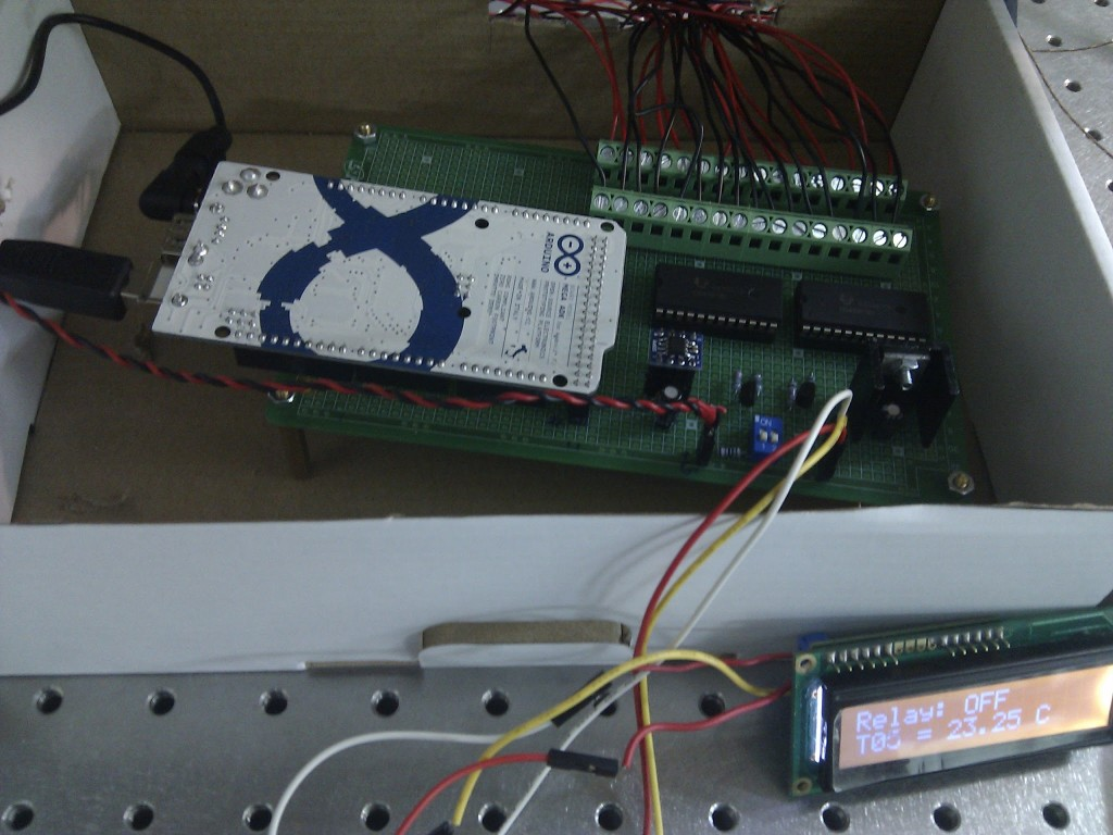 Temperature monitoring board soldered