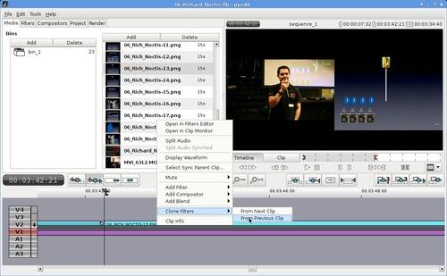 Flowblade window during editing