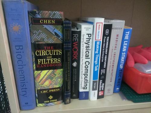 Books on my Taipei Hackerspace bookself