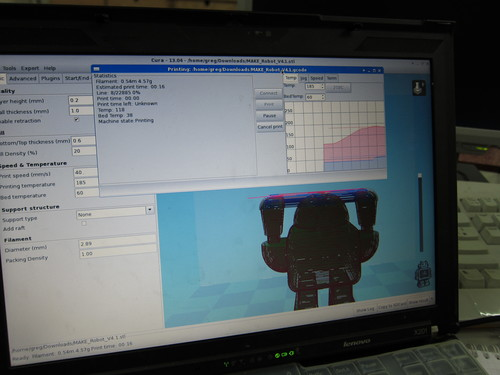The 3D printer software window