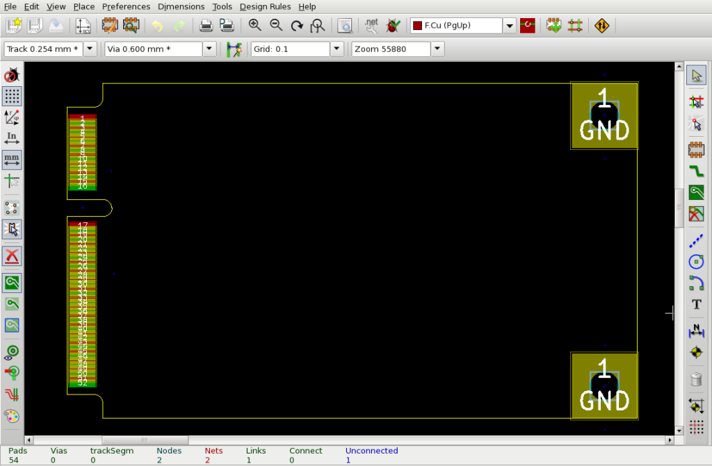 Mini PCIe baseboard in KiCad (click for source)