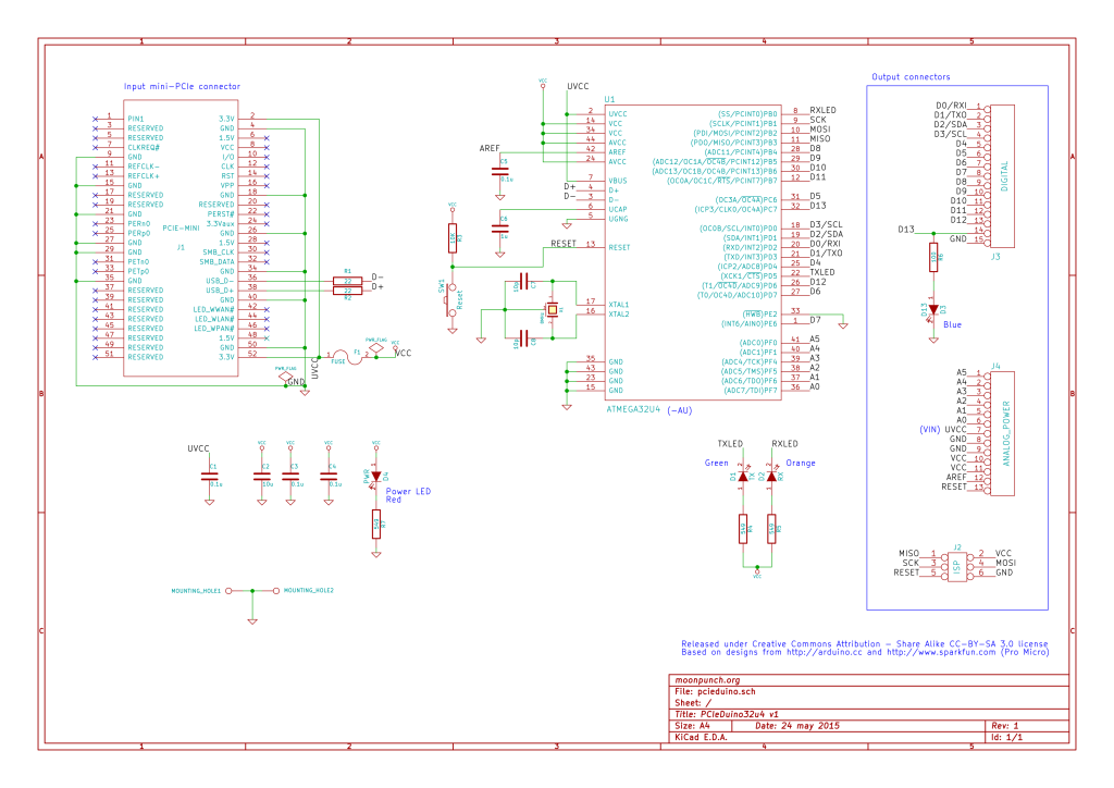 PCIeDuino Schematic (click for full size)
