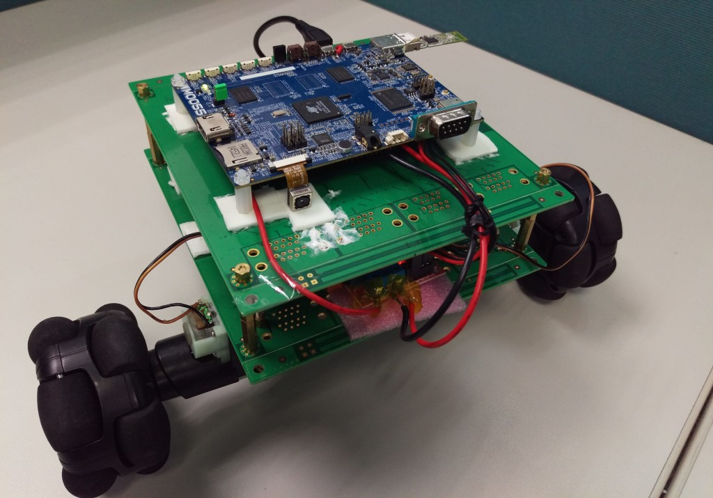 Hacked-together robot from the lab