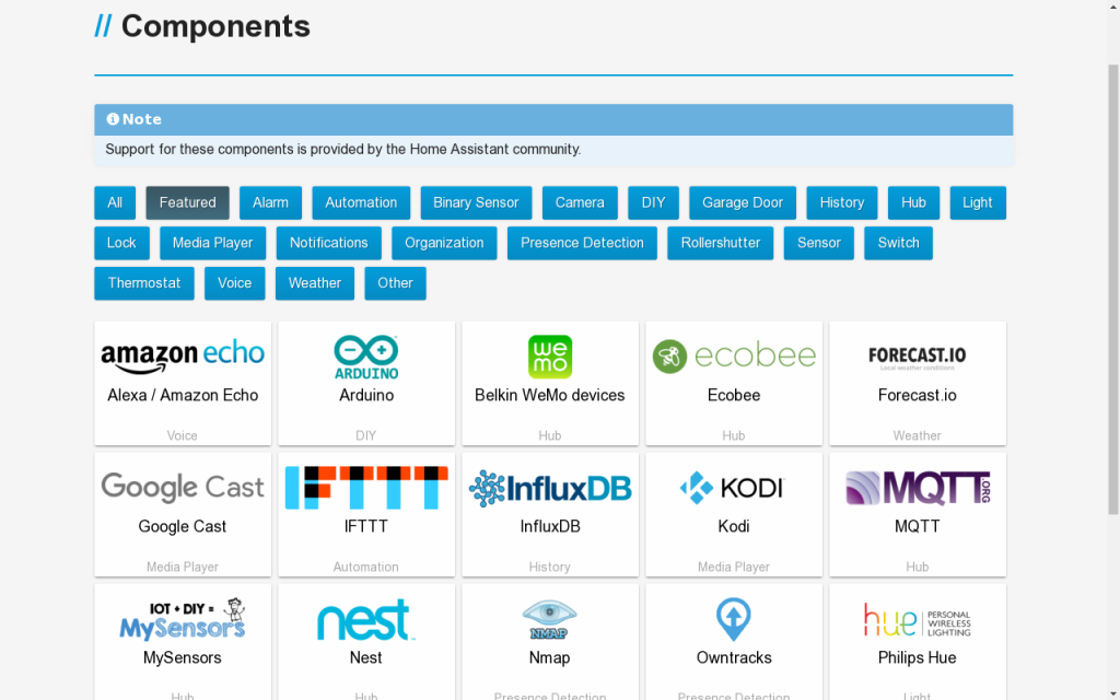 Home Assistant components galore